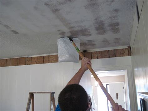 Remove Popcorn Ceilings by Removing Popcorn Ceiling Project Freshen Up