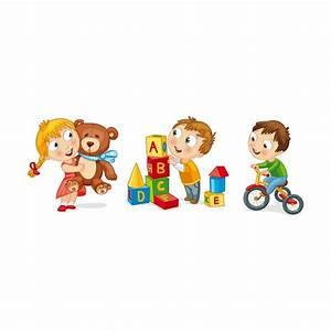 Trois sticker Jeux d'Enfant peluche vélo - stickersmania fr