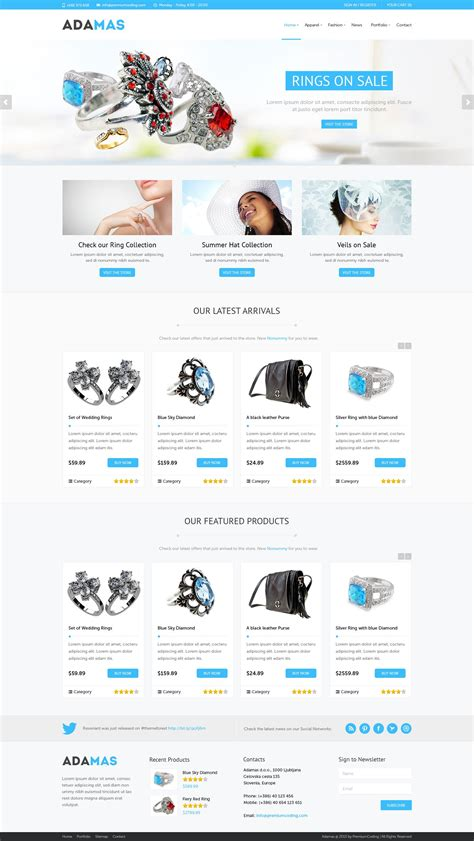 adamas responsive woocommerce shop wordpress commerce