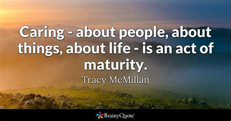 tracy mcmillan caring  people