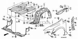 2016 Honda Civic Undercarriage Parts Diagram