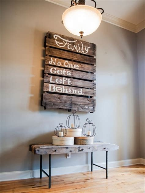A large, windowless wall is the perfect canvas for creative decor. 25 Pallets Decor Ideas That Will Boost Your Creativity