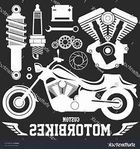 Motorcycle Parts Illustration