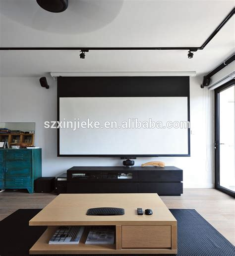 roll projector screen high definition motorized electric 120 inch projector 2207
