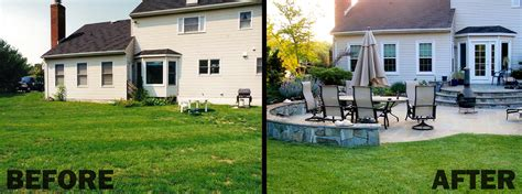 landscaping before and after doug bibb s landscape company design services