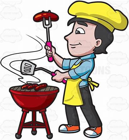 Clipart Grilling Grill Barbecuing Bbq Sausages Cartoon
