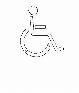 free road sign stencils With handicap template