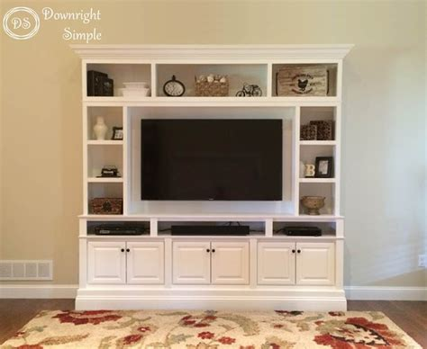 decorative wall cabinets with doors downright simple diy tv built in wall unit