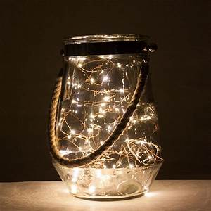 Rope, Handle, Hurricane, Vase, With, Led, Lights