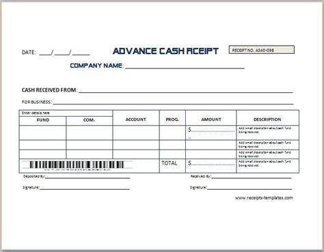 Cash Advance Request Form Template Premium Receipt Sample For Your