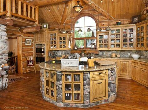 log house kitchen mansions and interior pinterest