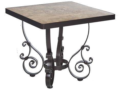 Ow Lee San Cristobal Wrought Iron 15 Round End Table Base