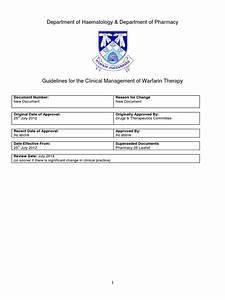 Warfarin Management 2012