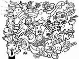 Doodle Coloring Pages sketch template