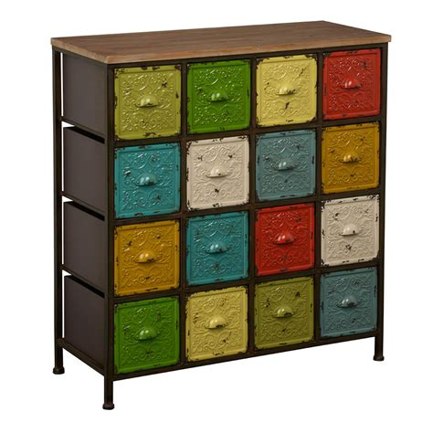 Coloured Sideboards by Artisan Shabby Chic Multi Coloured Sideboard Bright