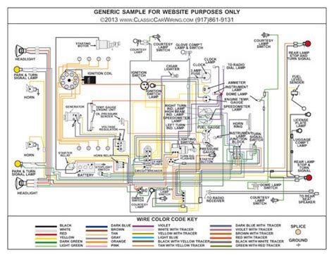 1956 Chevy Truck Wiring Diagram by 1956 Chevy Truck Color Wiring Diagram Classiccarwiring