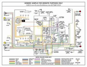 1955 Ford Cars Color Wiring Wiring Diagram  All Except T