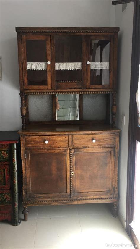 antiguo mueble alacena de cocina rustica en mad vendido en subasta