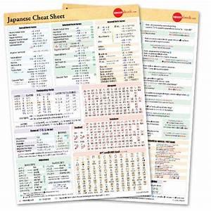 Japanese Grammar Cheat Sheet Pdf