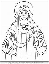 Rosary Thecatholickid Lourdes Kid sketch template