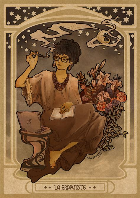 art nouveau style ls self potrait in art nouveau style by tangmaelon on deviantart