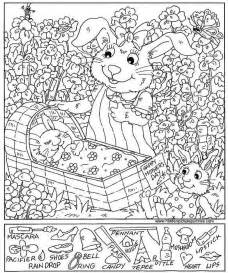 Hidden Pictures Coloring Sheets Pages Printables
