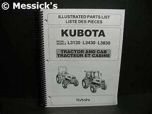 Kubota  L3130  L3430  L3830 Parts Manual  Part   97898