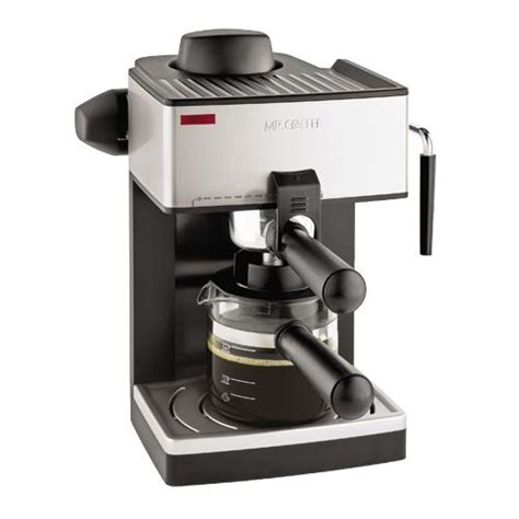 Mr. Coffee ECM160 NP 4 Cup Steam Espresso Machine, Brews 20 Ounces   1 To 4 Cups, Powerful Milk