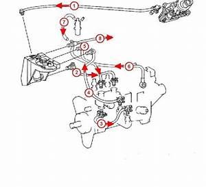 W124 Diesel Feed And Return Lines