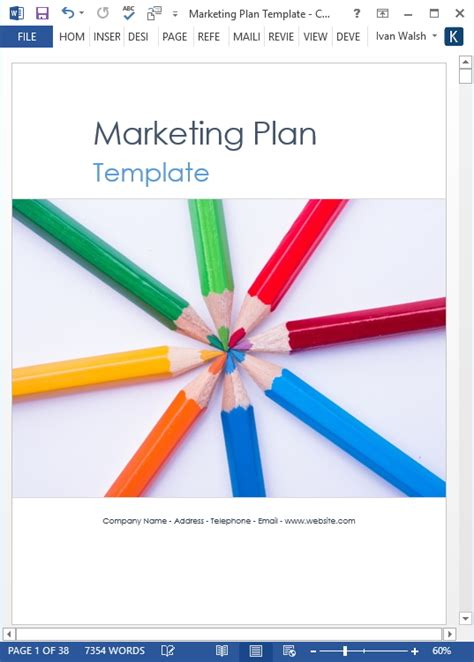 marketing plan templates   word  excel spreadsheets