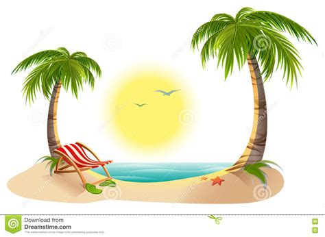 chaise plage chaise longue stock illustrations vecteurs clipart 1 064