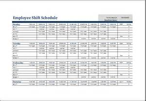 Excel Spreadsheet For Scheduling Employee Shifts by Image Gallery Shift Schedule