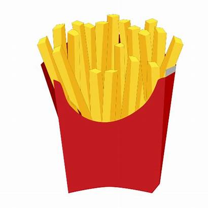 Clip Fries French Chip Clipart Potato Chips