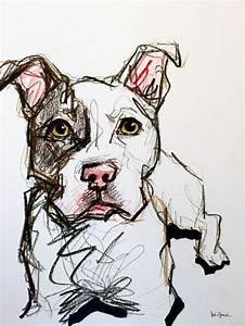 Pit bull pet portrait sketch | Art - Dogs & Pets ...
