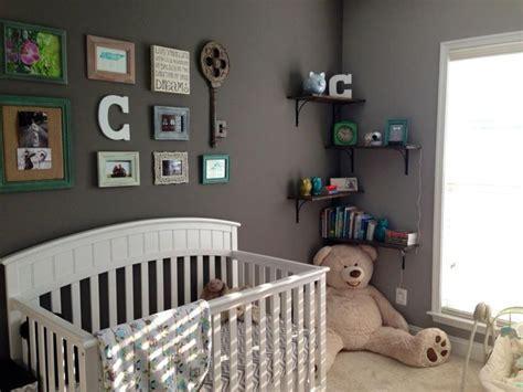 Baby Boy Nursery With Collage Wall #greynursery Leah's