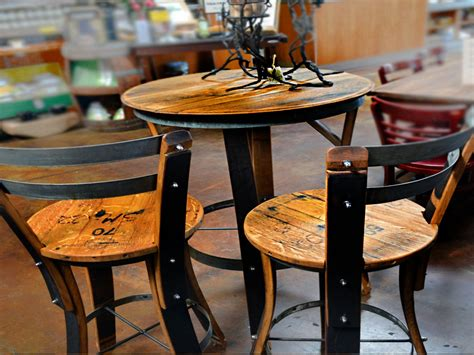 outdoor bar table and chairs wine barrel bistro table and
