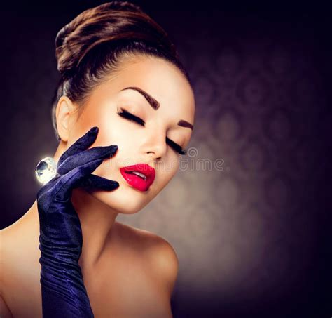 glamour girl portrait stock image image of glamorous