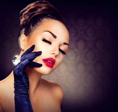 glamour girl portrait stock image image 35464941