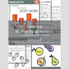 Free Sight Word Worksheets  Free Homeschool Deals