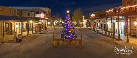 christmas tree lighting tombstone chamber  commerce