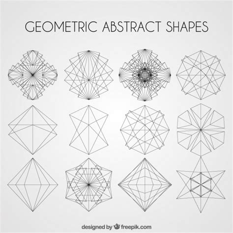 Abstract Geometric Shapes In by Geometric Abstract Shapes Pack Vector Free