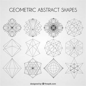 Geometric abstract shapes pack Vector   Free Download