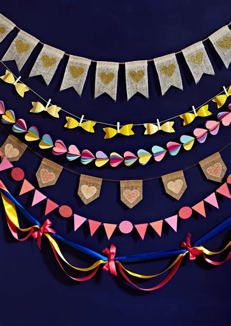 6 Easy Diy Wedding Bunting Projects + Free Templates