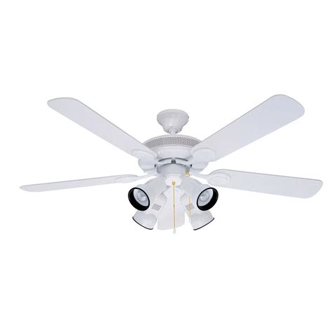 shop litex 52 in spotlight white ceiling fan with light