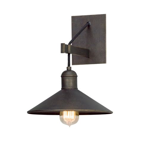 troy lighting mccoy vintage bronze wall sconce b5421