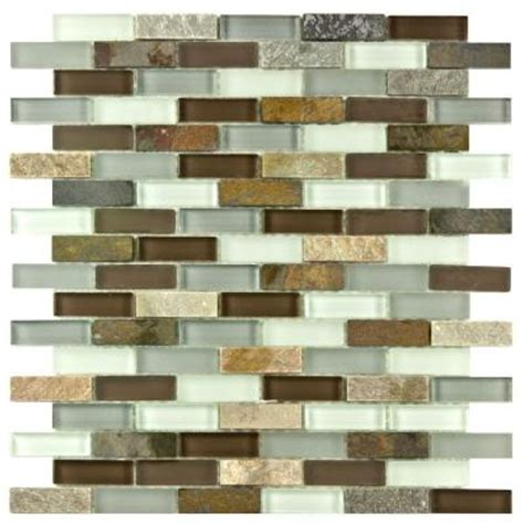 Home Depot Merola Subway Tile by Merola Tile Tessera Subway Tundra 11 3 4 In X 11 3 4 In