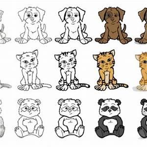 Cute Animal Drawings - Litle Pups