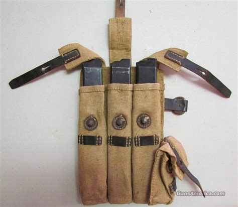 mp 38 40 wwii mag pouch 3 mags for sale