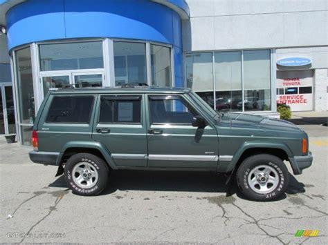 jeep cherokee green 2000 medium fern green metallic 2000 jeep cherokee sport 4x4