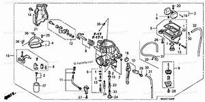 Honda Atv 2004 Oem Parts Diagram For Carburetor